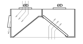 Pieplūdes-nosūces kape ar filtriem PN1
