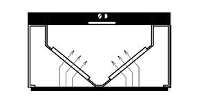 Sala tipa nosūces kape ar filtriem S1