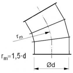 Līkums ar atloku 30° 1.5d D180