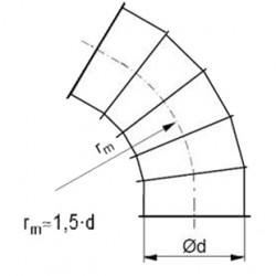 Līkums ar atloku 60° 1.5d D200