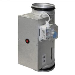 Elektriskais kanālu sildītājs ar iebūvētu temperatūras regulatoru Ø100-1.2-1f