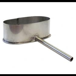 Elipsveida kondensāta izvads uz sānu no platās puses 180x110