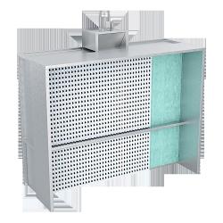 Krāsošanas kamera ar 2 filtrācijas līmeņiem 3000(B)x1000(H)mm LAT 355-15A/4 kW - H