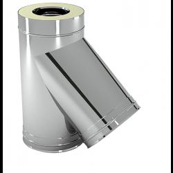 Izolēts T-gabals 45° ar adapteri D160/250