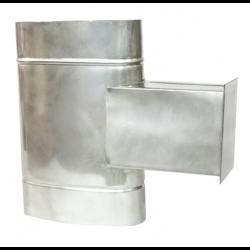 Эллипсный тройник для прочистки с узкой стороны 180x110