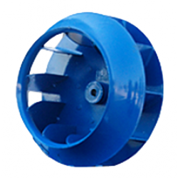 Welded centrifugal impellers with reversed curved blades