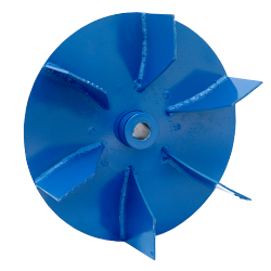 Welded centrifugal impellers with open blades